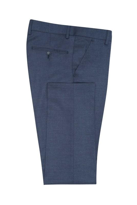 Pánske oblekové nohavice  , farba modrá