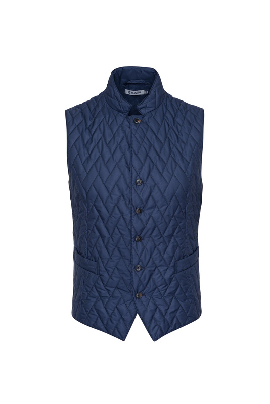 Pánska vesta  , farba modrá