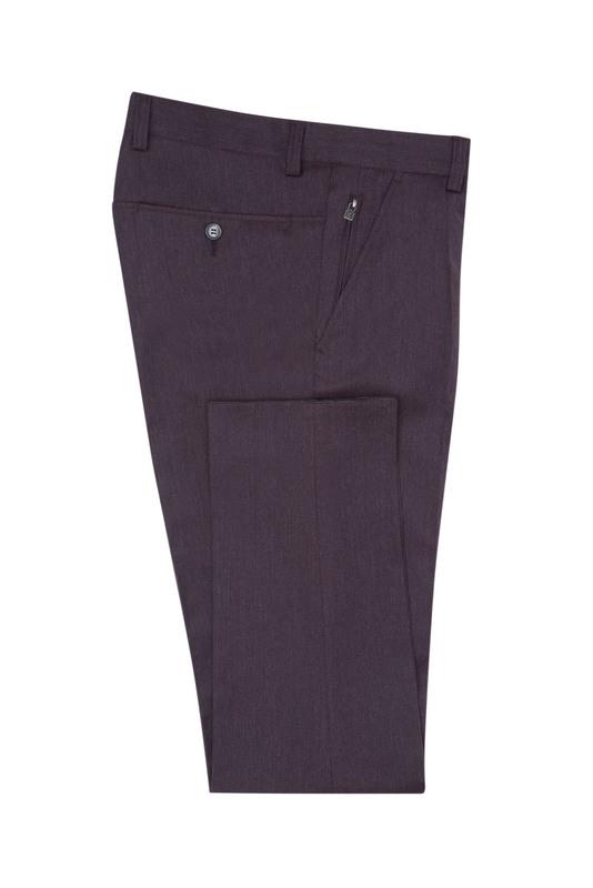 Pánske nohavice  , farba vínová