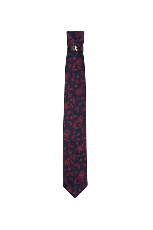 Kravata  , farba modrá, červená