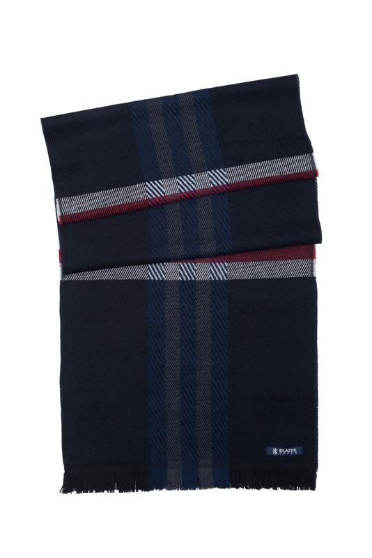Pánsky šál  , farba modrá, červená