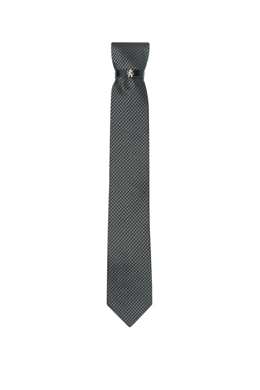 Kravata  , farba sivá