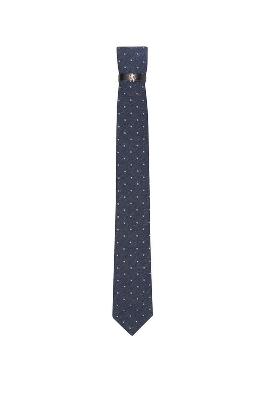 Kravata  , farba modrá