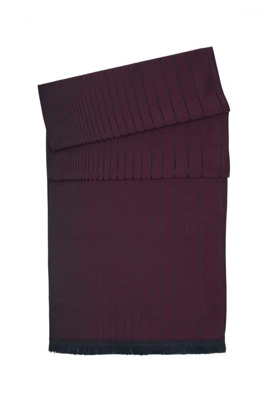 Pánsky šál  , farba vínová