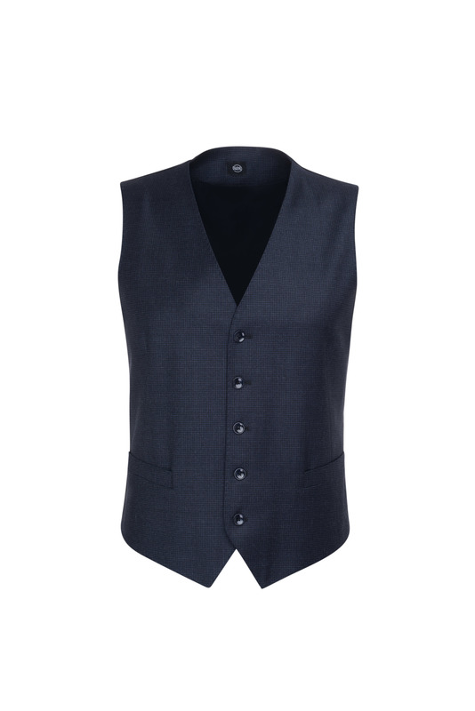 Pánska obleková vesta  , farba modrá