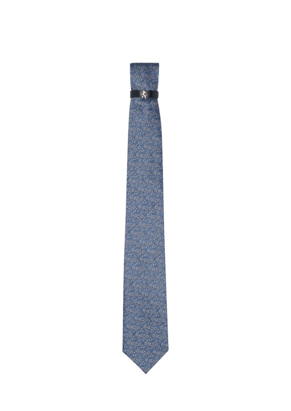 Kravata formal, farba modrá, béžová