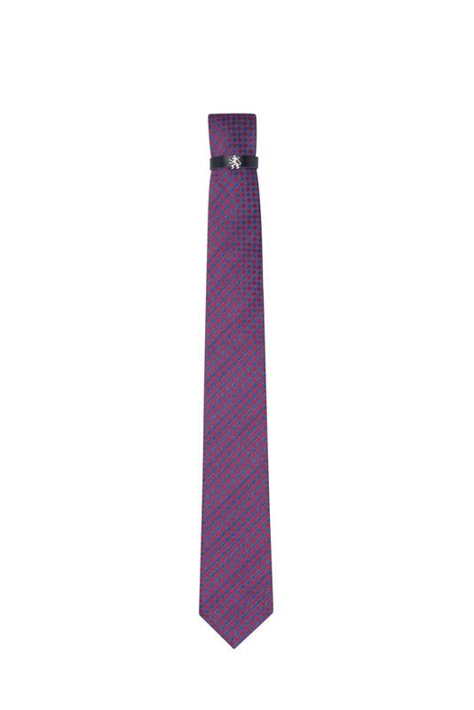 Kravata formal, farba Modrá, růžová