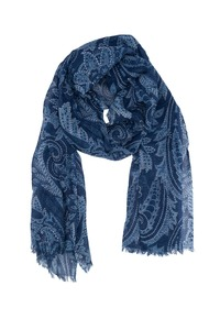 Šál informal, farba modrá