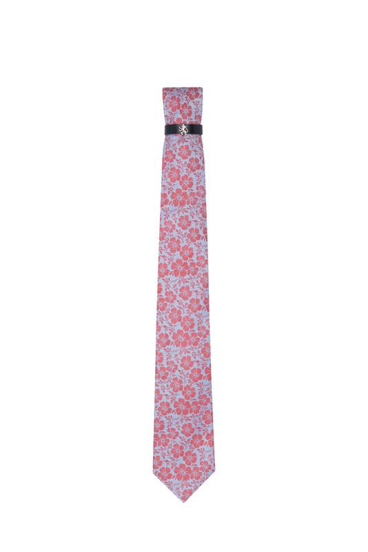 Kravata formal, farba modrá, červená
