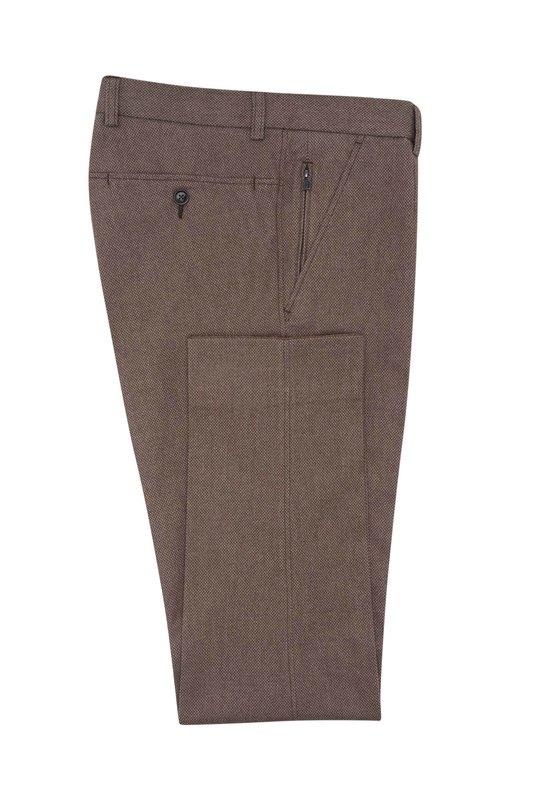 Pánske nohavice  , farba hnedá