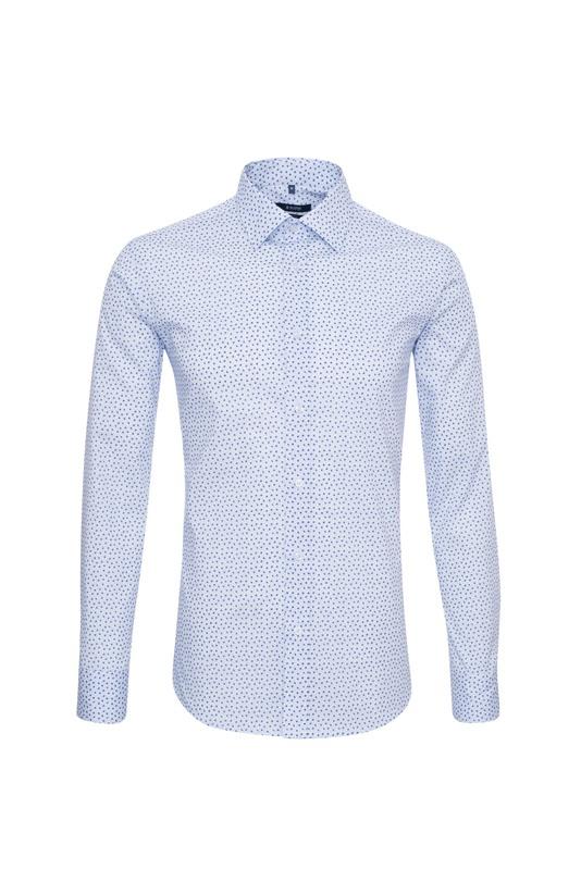 Košeľa informal slim, farba modrá