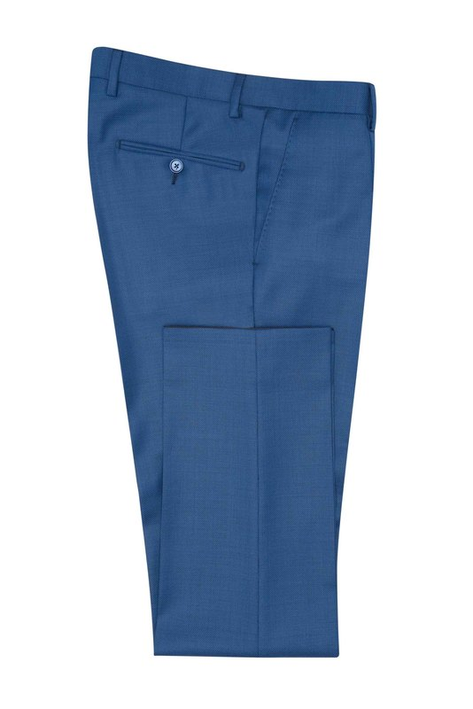 Oblekové nohavice formal slim, farba modrá