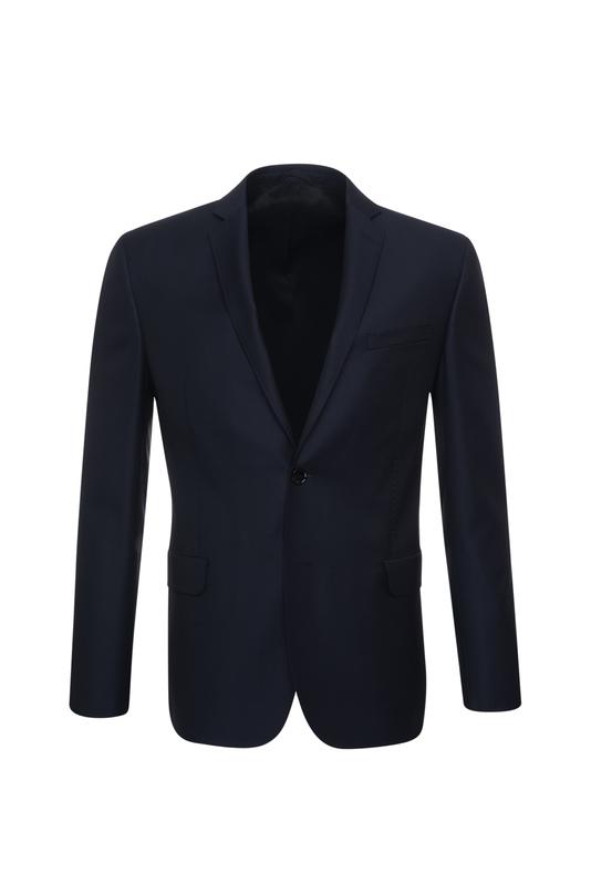 Oblekové sako essential slim, farba modrá