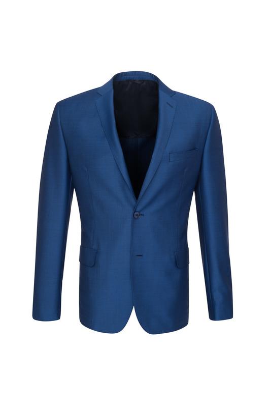 Oblekové sako ceremony slim, farba modrá