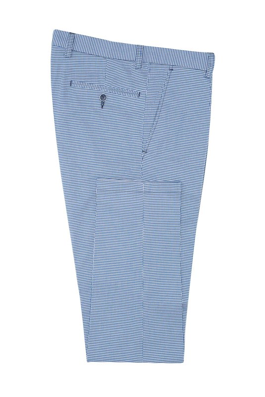 Nohavice informal extra slim, farba biela, modrá