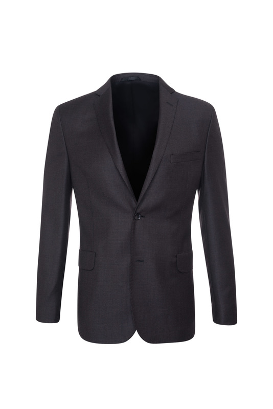 Oblekové sako formal slim, farba hnedá, čierna
