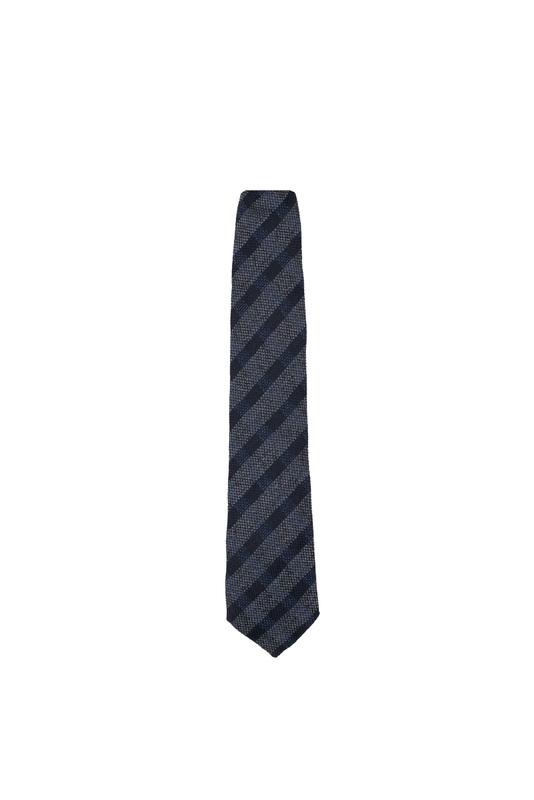 Kravata formal, farba šedá, modrá