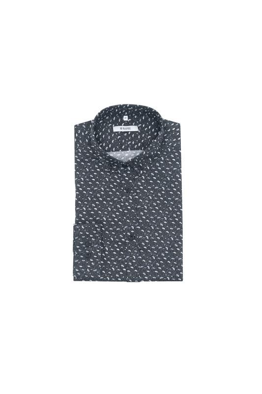 Košeľa informal slim, farba biela, čierna