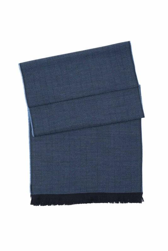 Šál formal, farba čierna, modrá