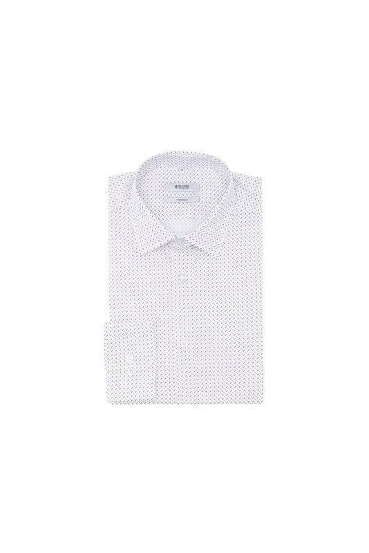 Košeľa informal slim, farba bílá, hnědá