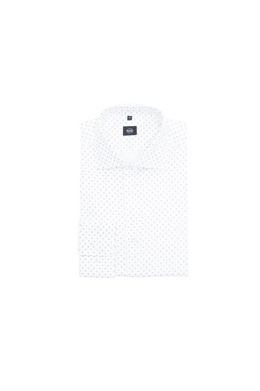 Košeľa formal slim, farba bílá, hnědá