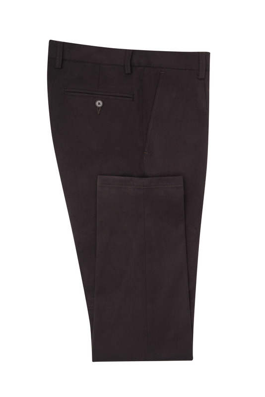 Nohavice informal extra slim, farba hnedá