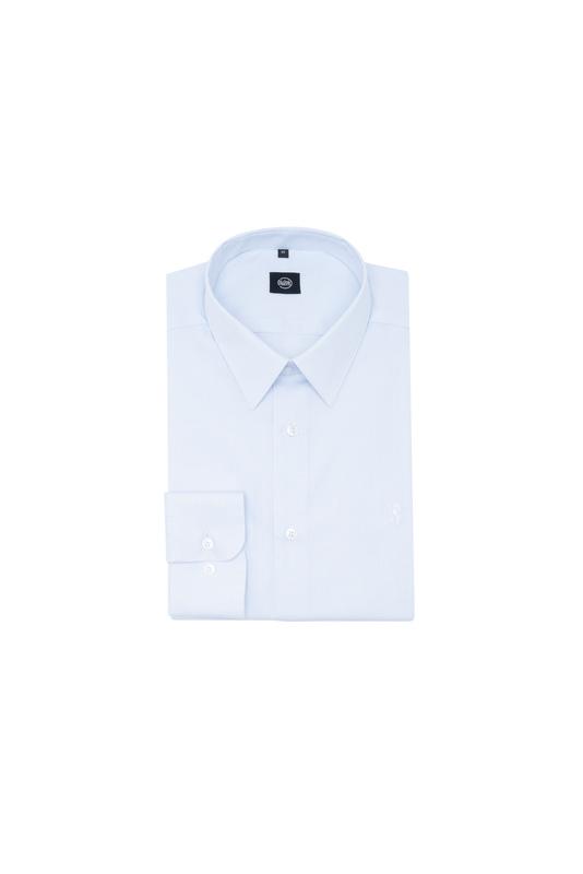Košeľa formal extra slim, farba modrá, biela