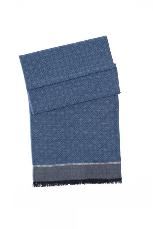 Šál formal, farba šedá, modrá