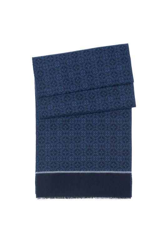 Šál formal, farba modrá