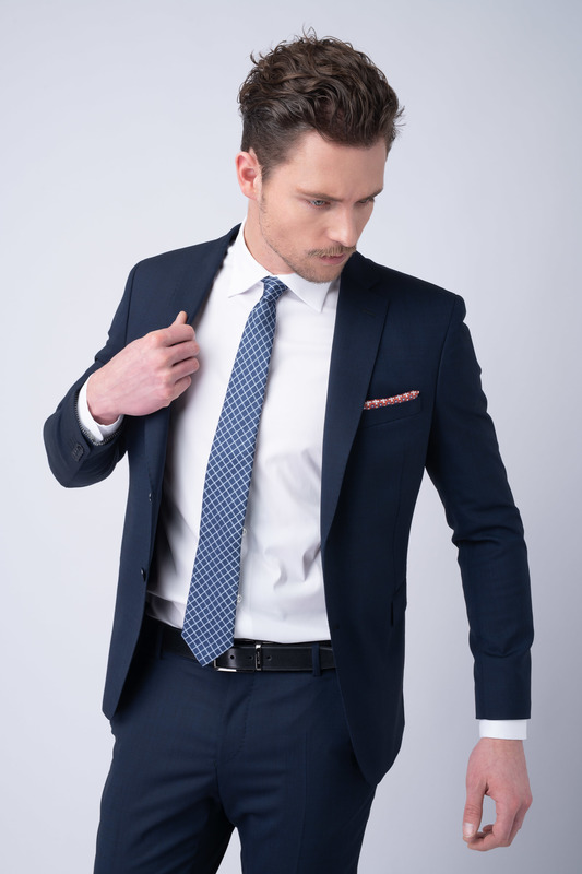 Oblekové sako essential extra slim, farba modrá