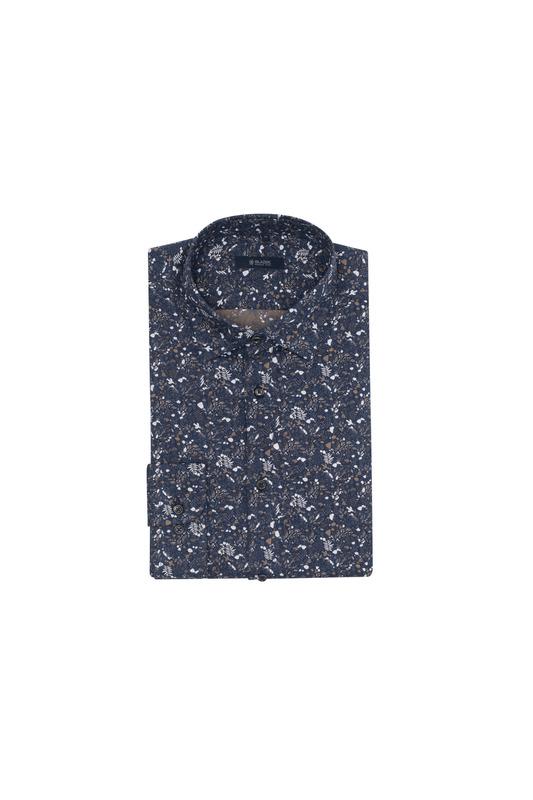 Košeľa informal, farba modrá