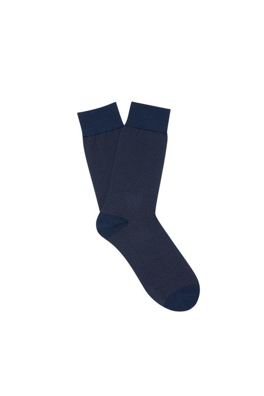 Ponožky informal, farba hnedá, modrá