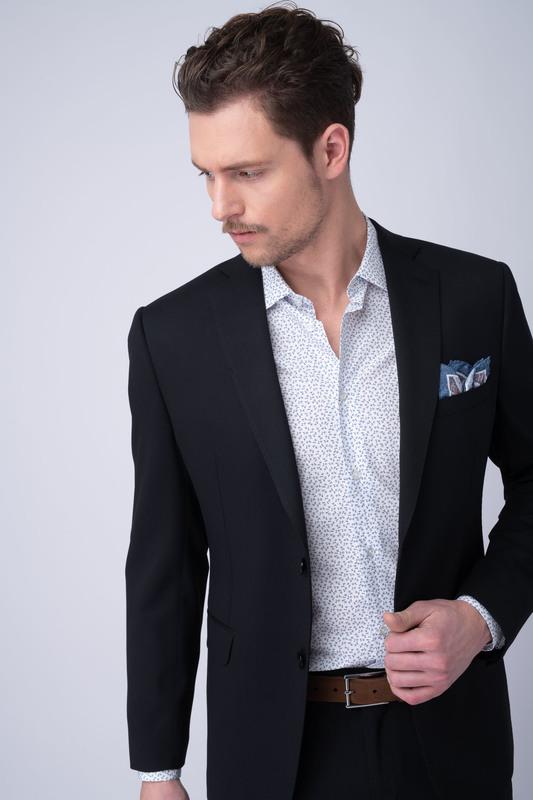 Oblekové sako essential slim, farba čierna