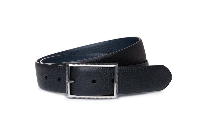 Opasok formal slim, farba čierna, modrá