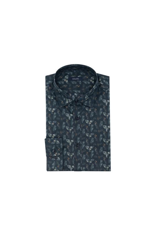Košeľa informal slim, farba hnedá