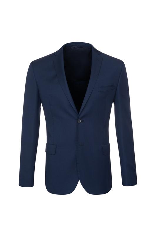 Oblekové sako formal slim, farba modrá