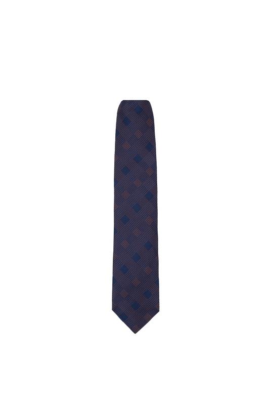 Kravata formal, farba modrá, oranžová