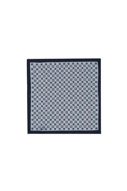 Vreckovka  informal, farba šedá, modrá