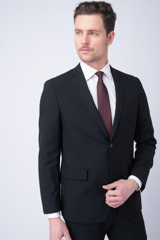 Oblekové sako essential extra slim, farba čierna