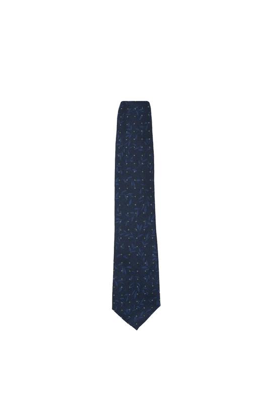 Kravata formal, farba modrá, zelená