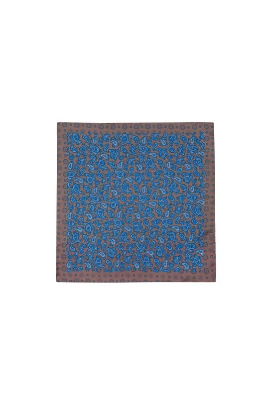 Vreckovka  formal, farba hnedá, modrá