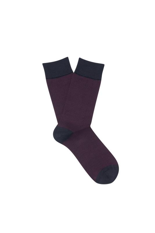 Ponožky informal, farba hnedá, červená