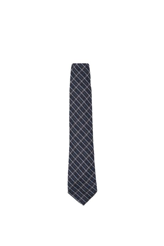 Kravata informal, farba hnedá, modrá, sivá