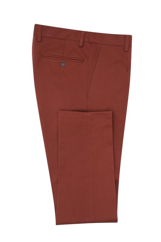 Nohavice informal extra slim, farba oranžová