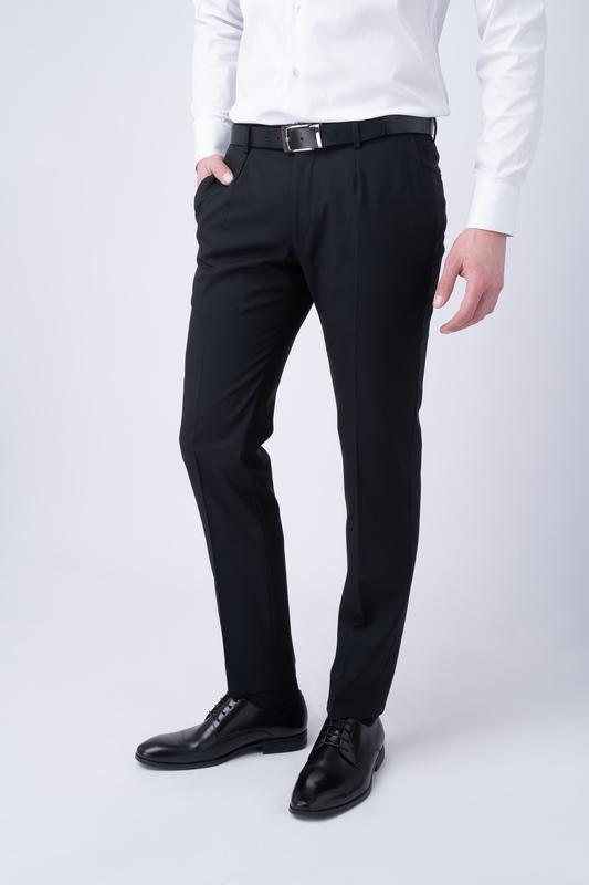 Oblekové nohavice essential extra slim, farba čierna