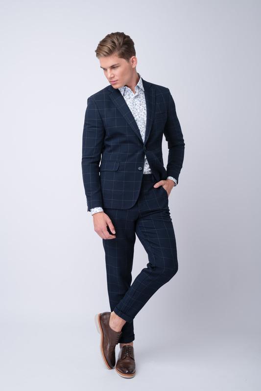Oblekové sako S károvaným vzorom