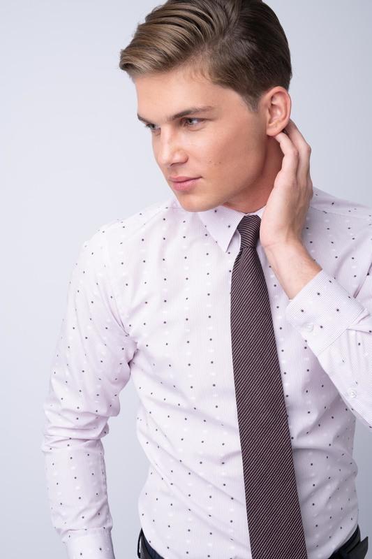 Košeľa formal extra slim, farba růžová
