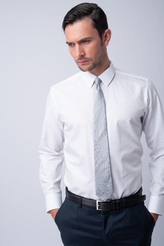 Košeľa ceremony extra slim, farba biela