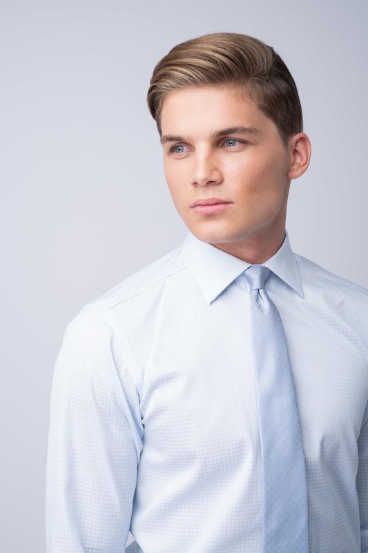 Košeľa formal slim, farba modrá