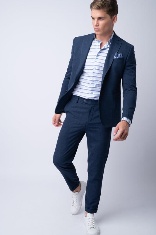 Oblekové sako Z merino vlny a hodvábu